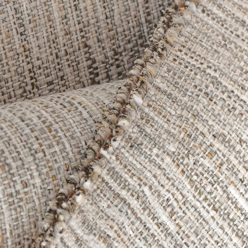 Close up view : Arthur Tweed, a textured warm grey performance fabric from Tonic Living