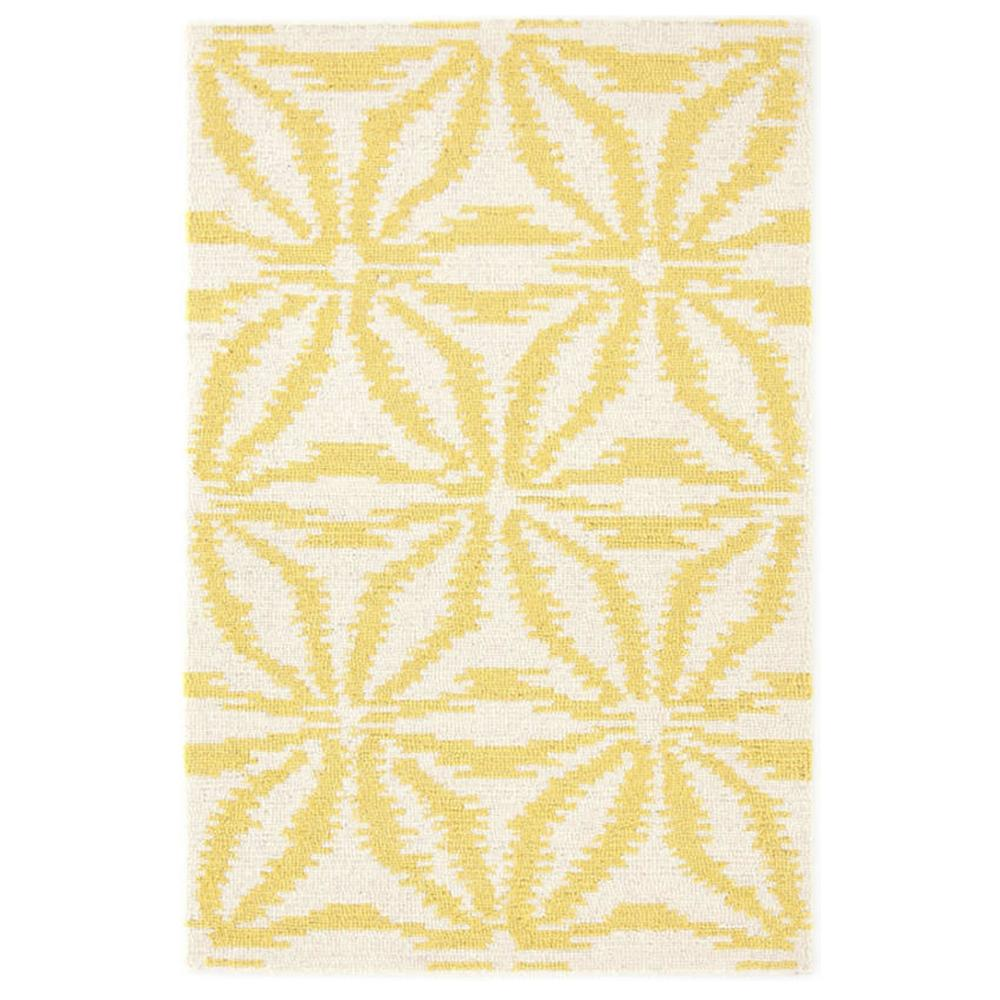 Aster Gold Wool Micro Hooked Rug (Dash & Albert)