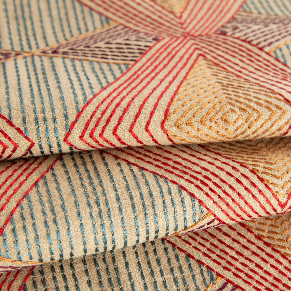Astoria, Magic Hour Art Deco multicoloured fabric from Tonic Living