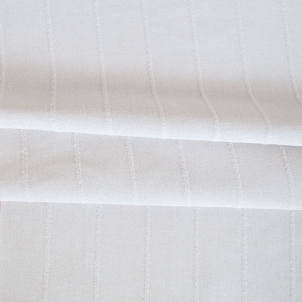Avalon bleach white textured stripe fabric from Tonic Living