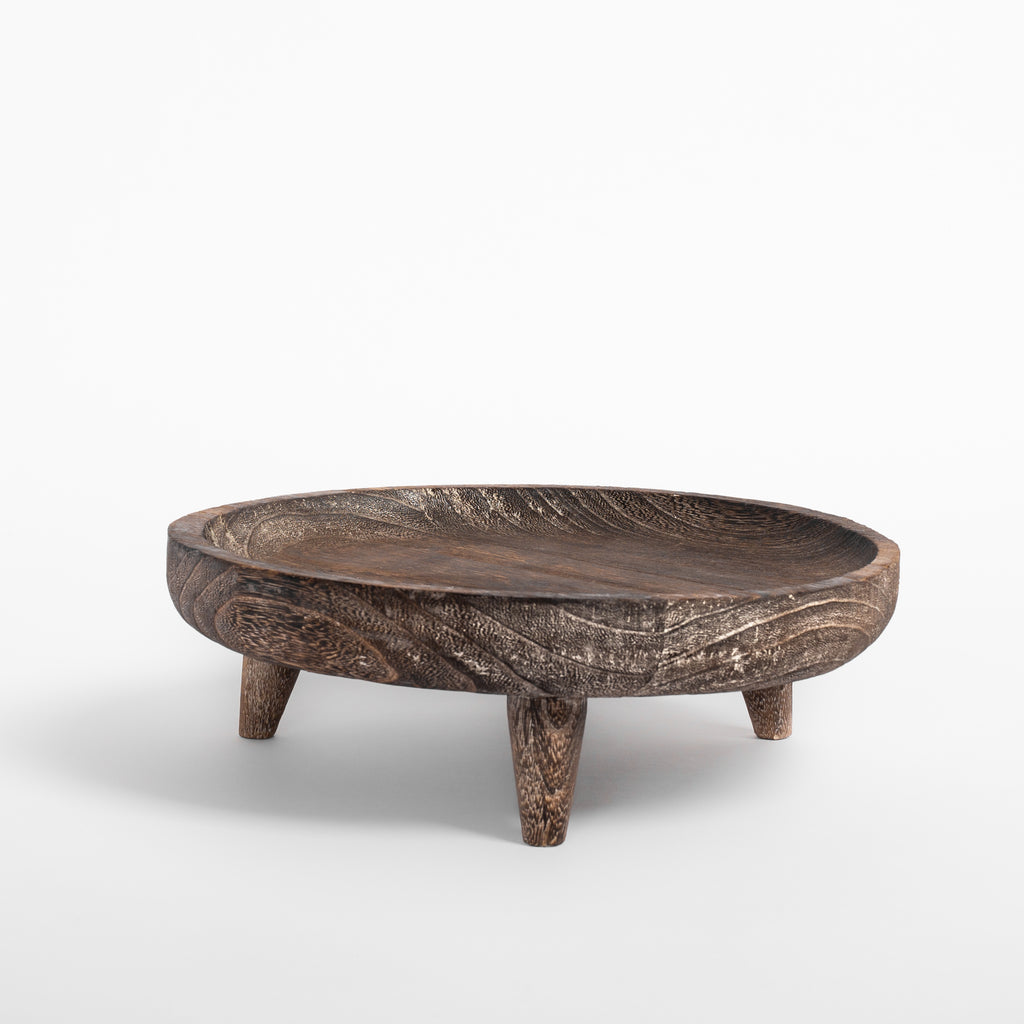 Batam wood footed display tray from Tonic Living