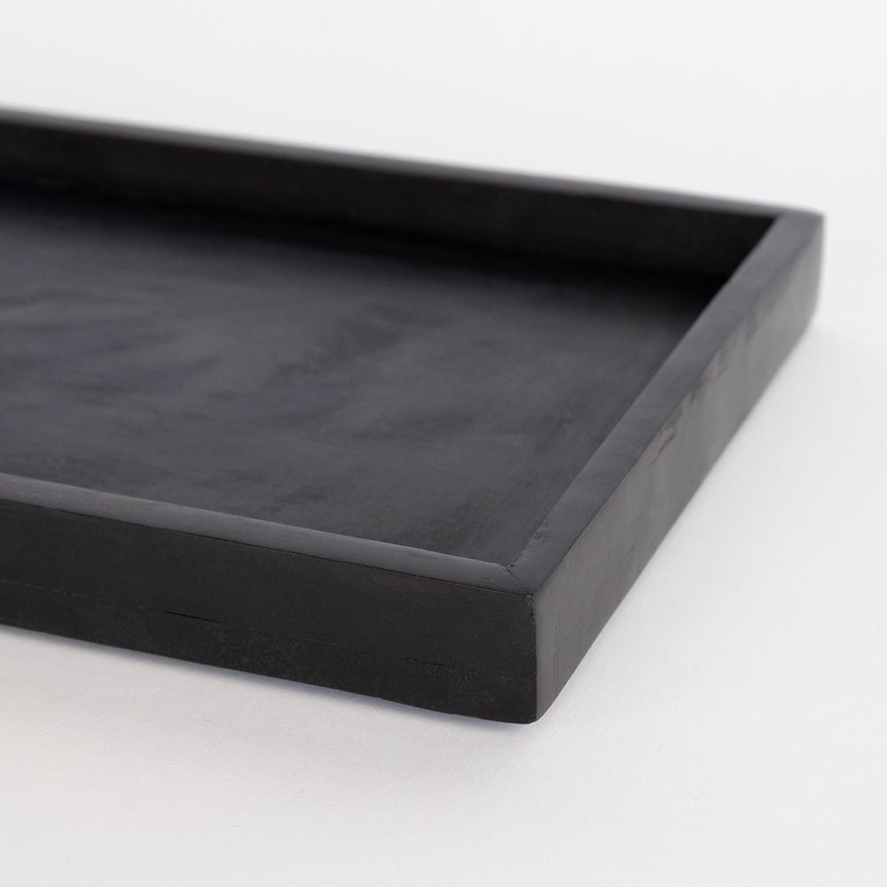 Beckett: A black stone rectangular tray from Tonic Living