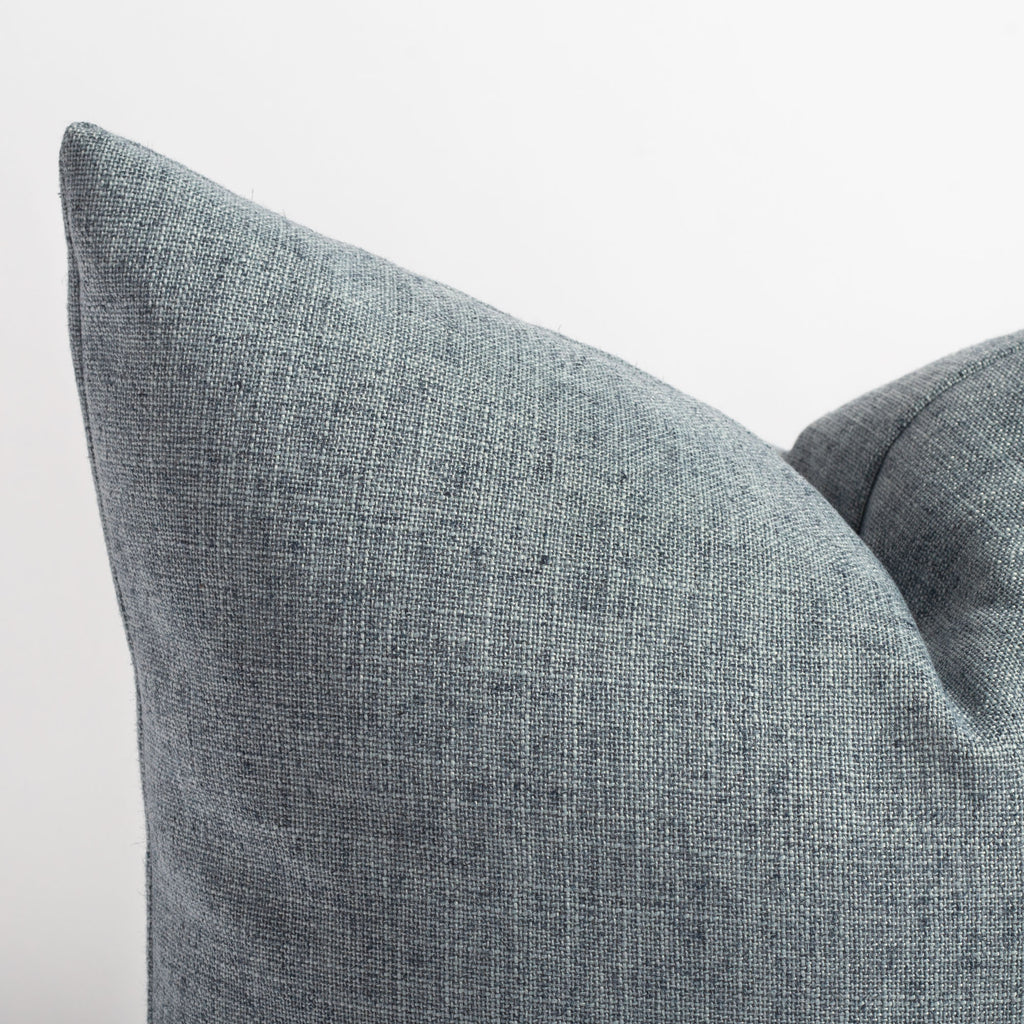 chambray blue throw pillow