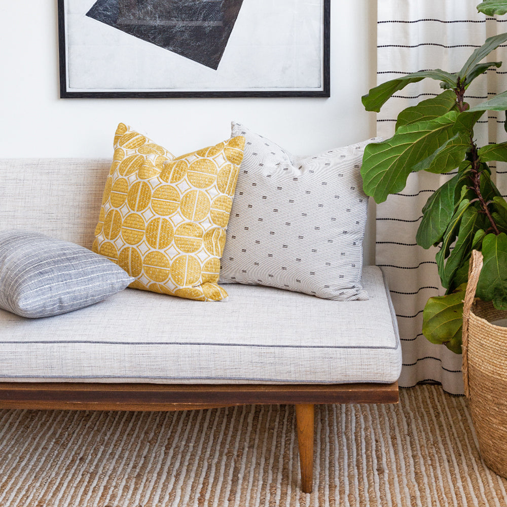 Sophisticated modern pillows from Tonic Living