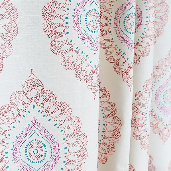 "REMNANT- Block Print, Medallion Sorbet 54"" - [Product_type] - Tonic Living"
