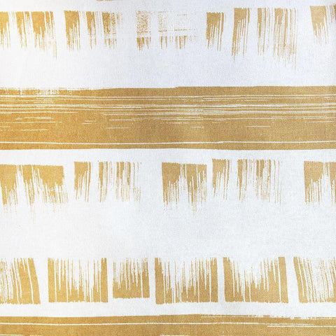 Brushed, Oro - A fantastic, horizontal striped fabric with brush stroke detailing in a warm, yellow-gold.