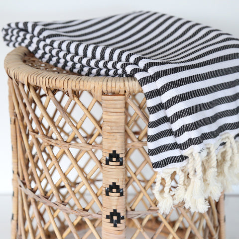 Turkish Towel - Cabana, Black - [Product_type] - Tonic Living