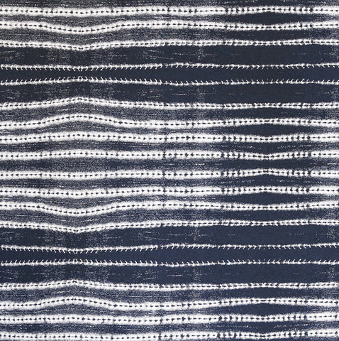 From our High Performance upholstery fabric line is this organic indigo and white striped weave. Perfect for medium to heavy weight furniture upholstery projects, seat cushions, pet beds and many other home decor projects.