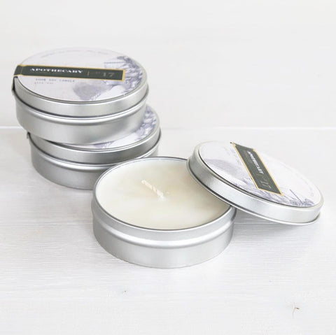 PURE Home Couture Apothecary Tin Candles
