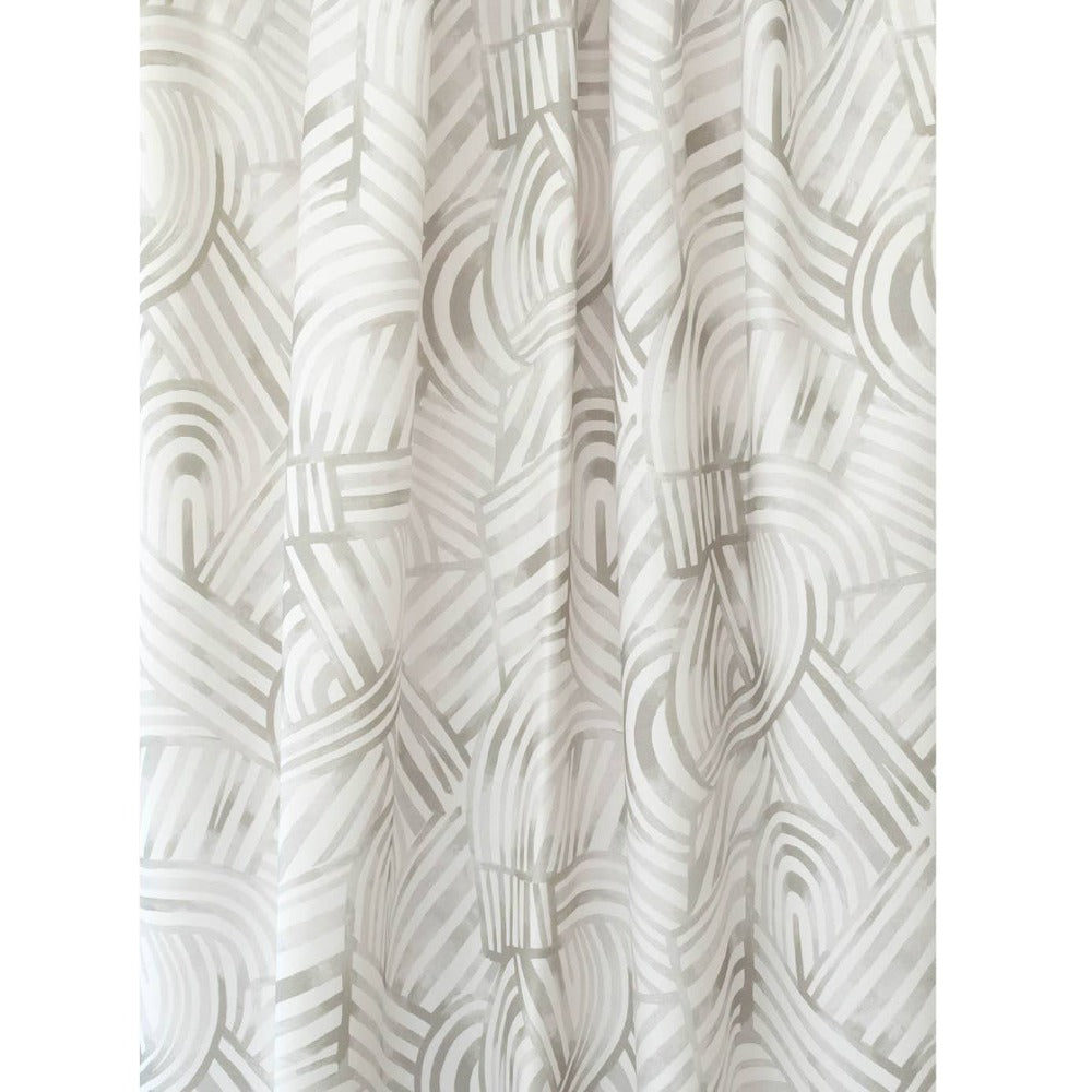 Capri Fabric, Mineral, a gray painterly swirl pattern from Tonic Living