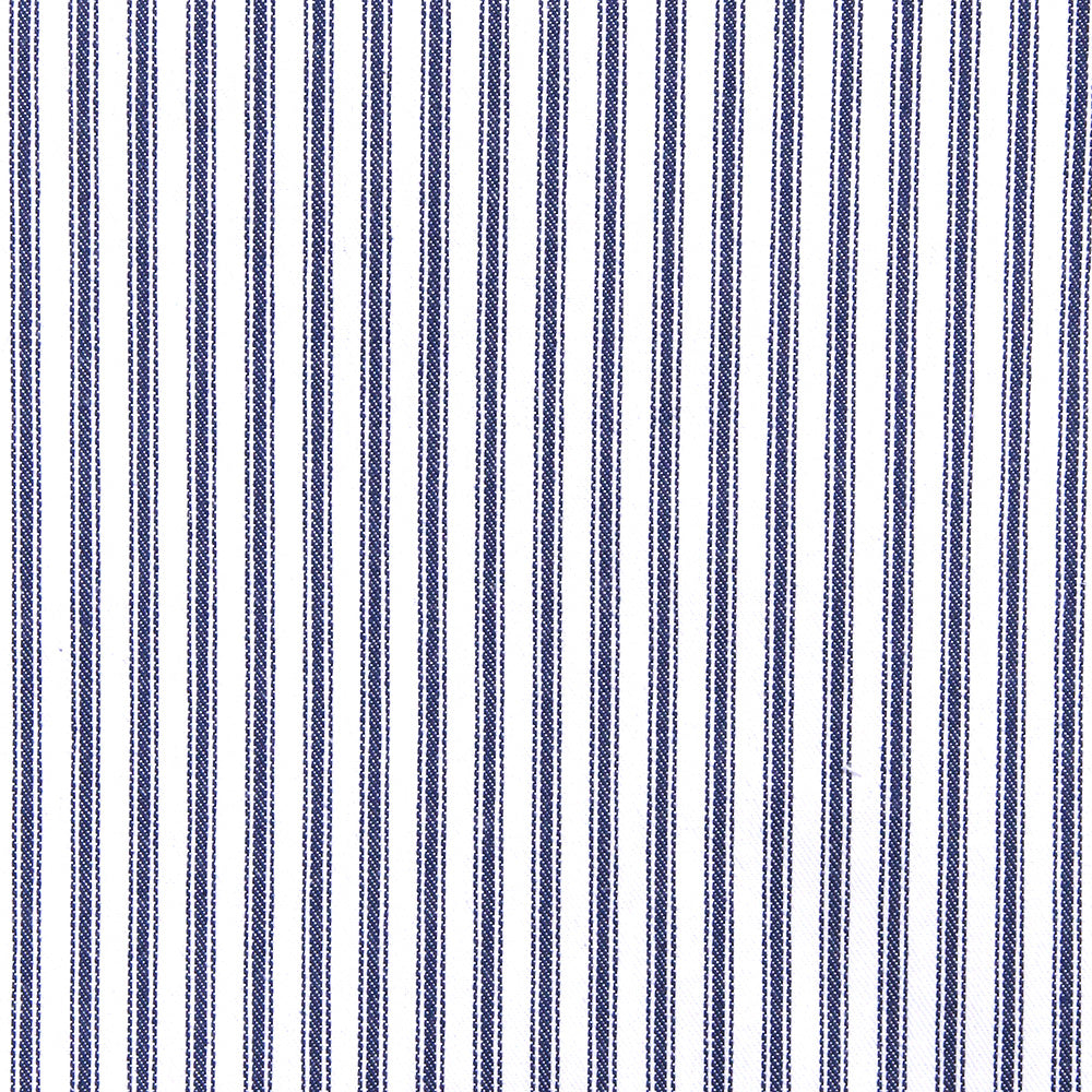 Classic Ticking, Navy - A classic, navy and white ticking fabric.