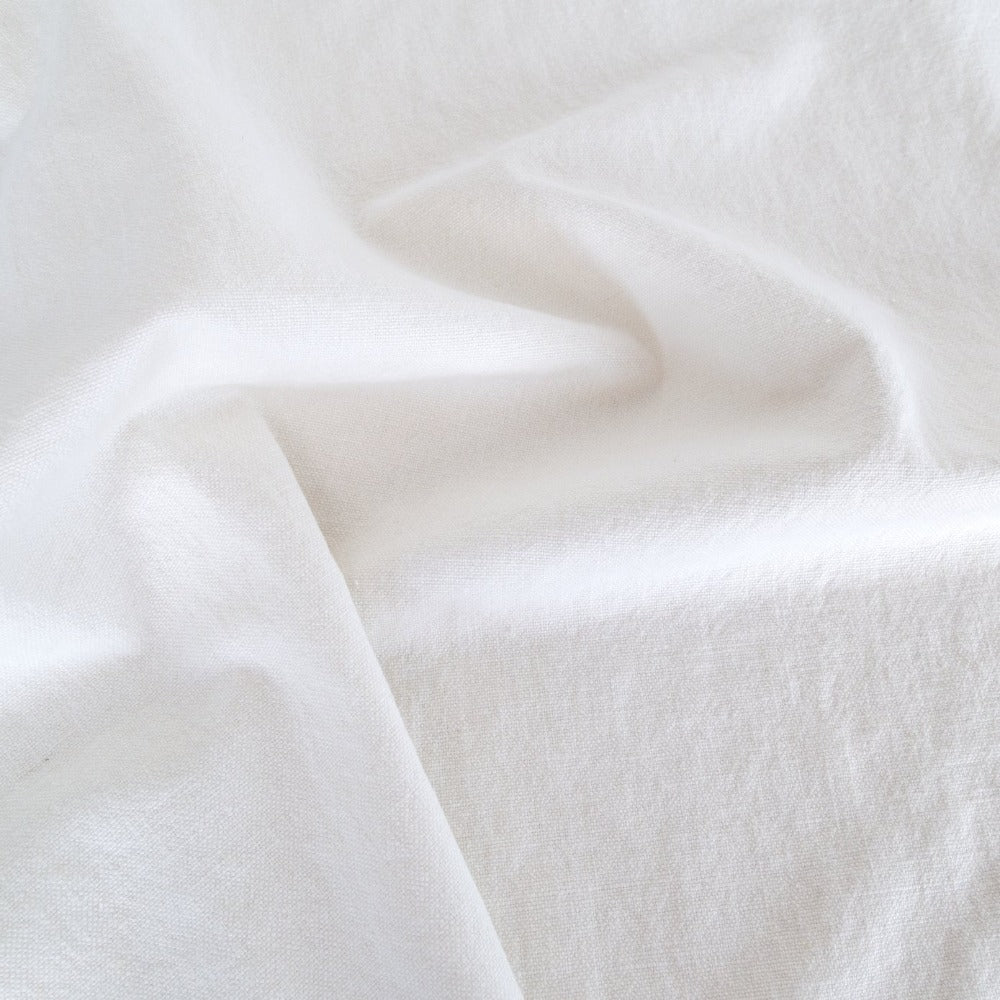 Cleary Ellen Degeneres white linen cotton fabric from Tonic Living