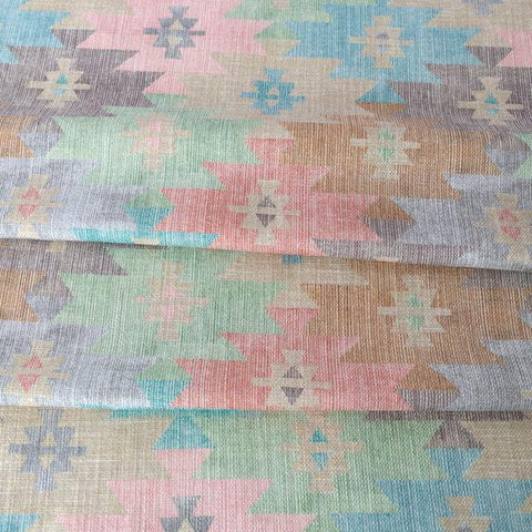 Coachella Fabric, Desert, southwestern print muted colourful geometric