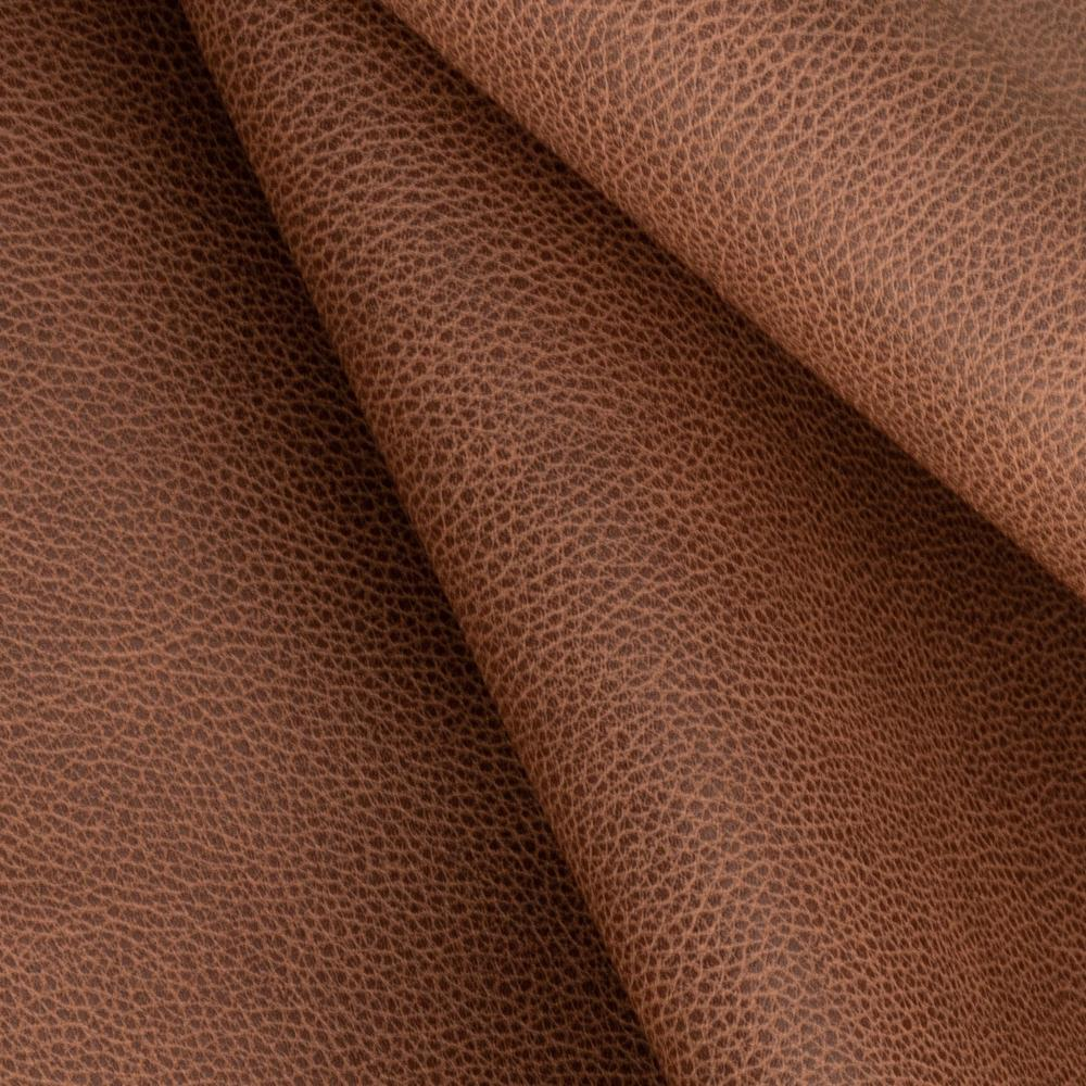 Darby cognac brown vegan faux leather fabric from Tonic Living