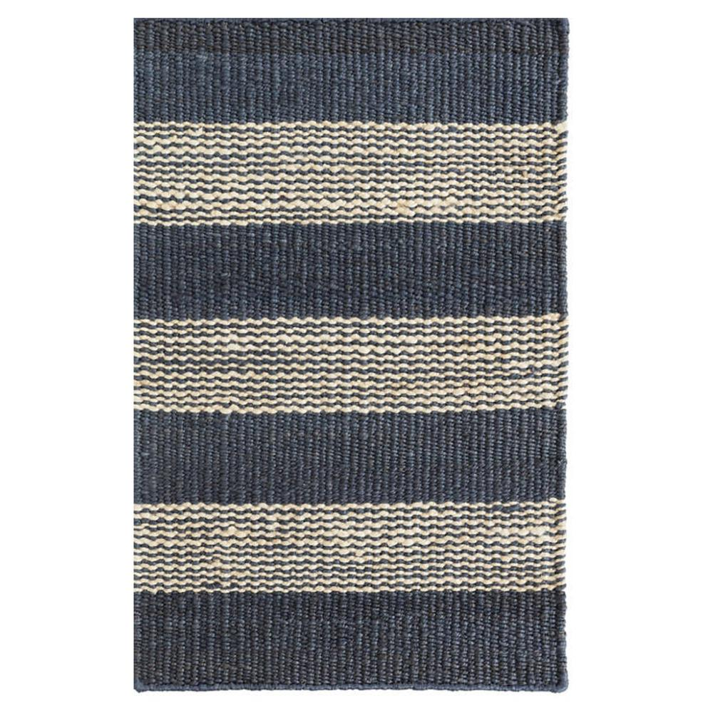Denim ticking navy jute stripe runner by Dash and Albert at Tonic Living