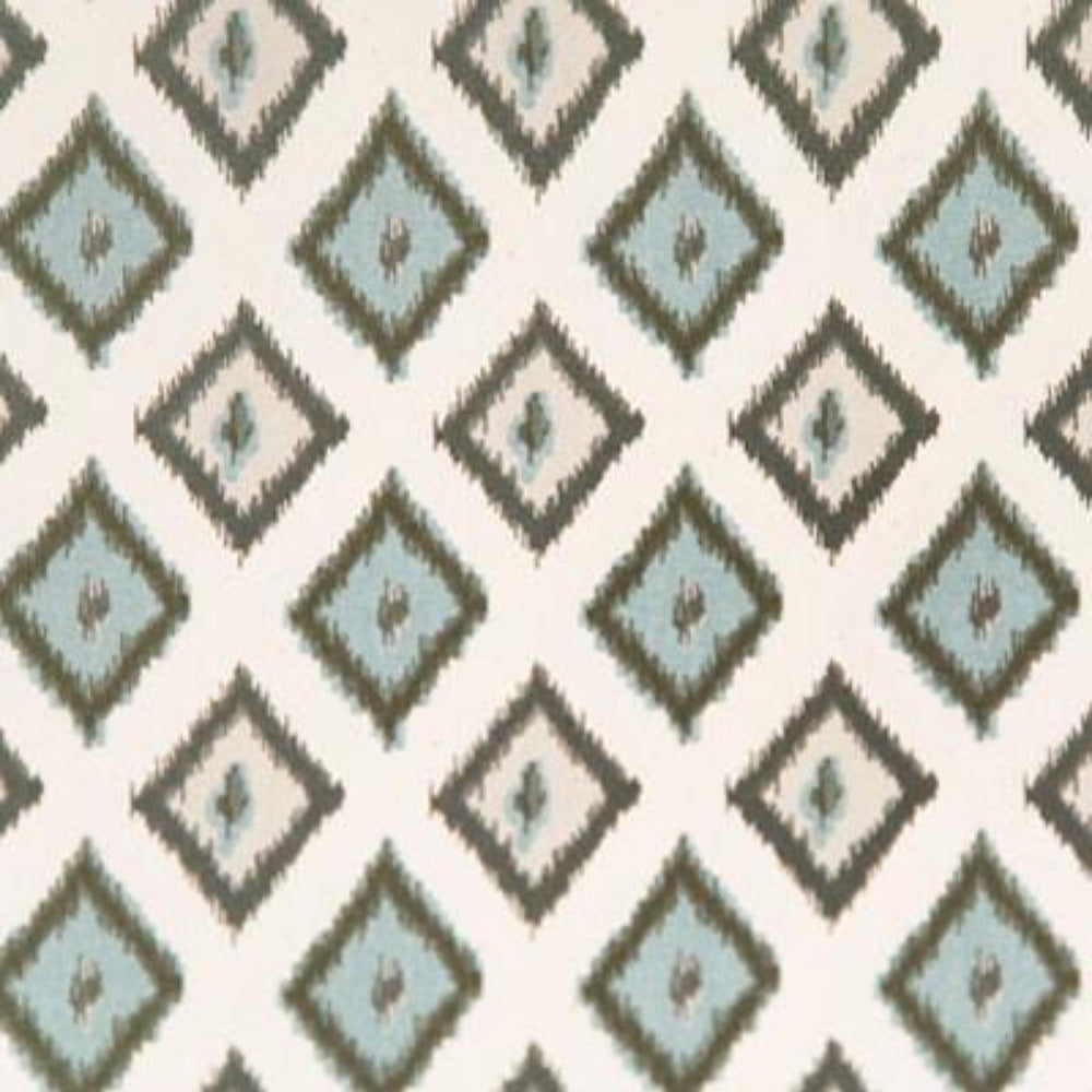 "REMNANT- Diamond Ikat, Ocean 24"" - [Product_type] - Tonic Living"