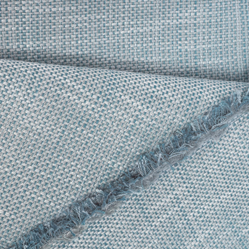 Ernesto Riviera, a gray blue indoor outdoor fabric: detail view
