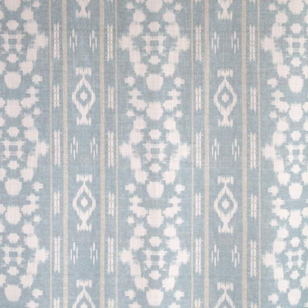 Espita, Ocean glam boho global fabric in pale blue, white and beige