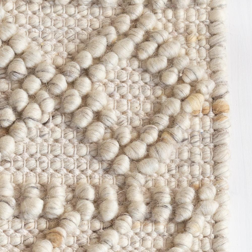 Eyre Cream chunky wool patterned rug at Tonic Living