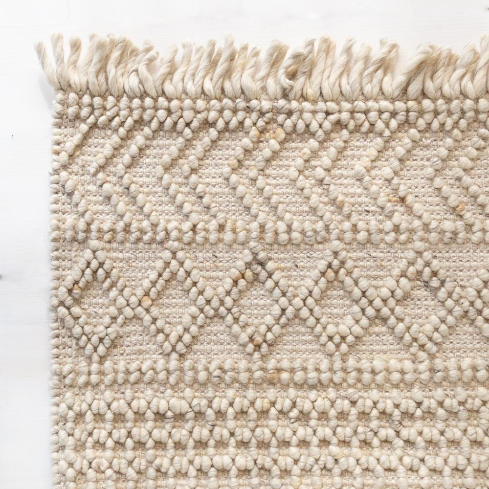 Eyre Cream chunky patterned wool rug at Tonic Living