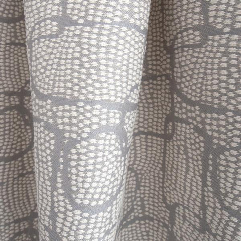 Pointillism, Zinc grey and white abstract fabric