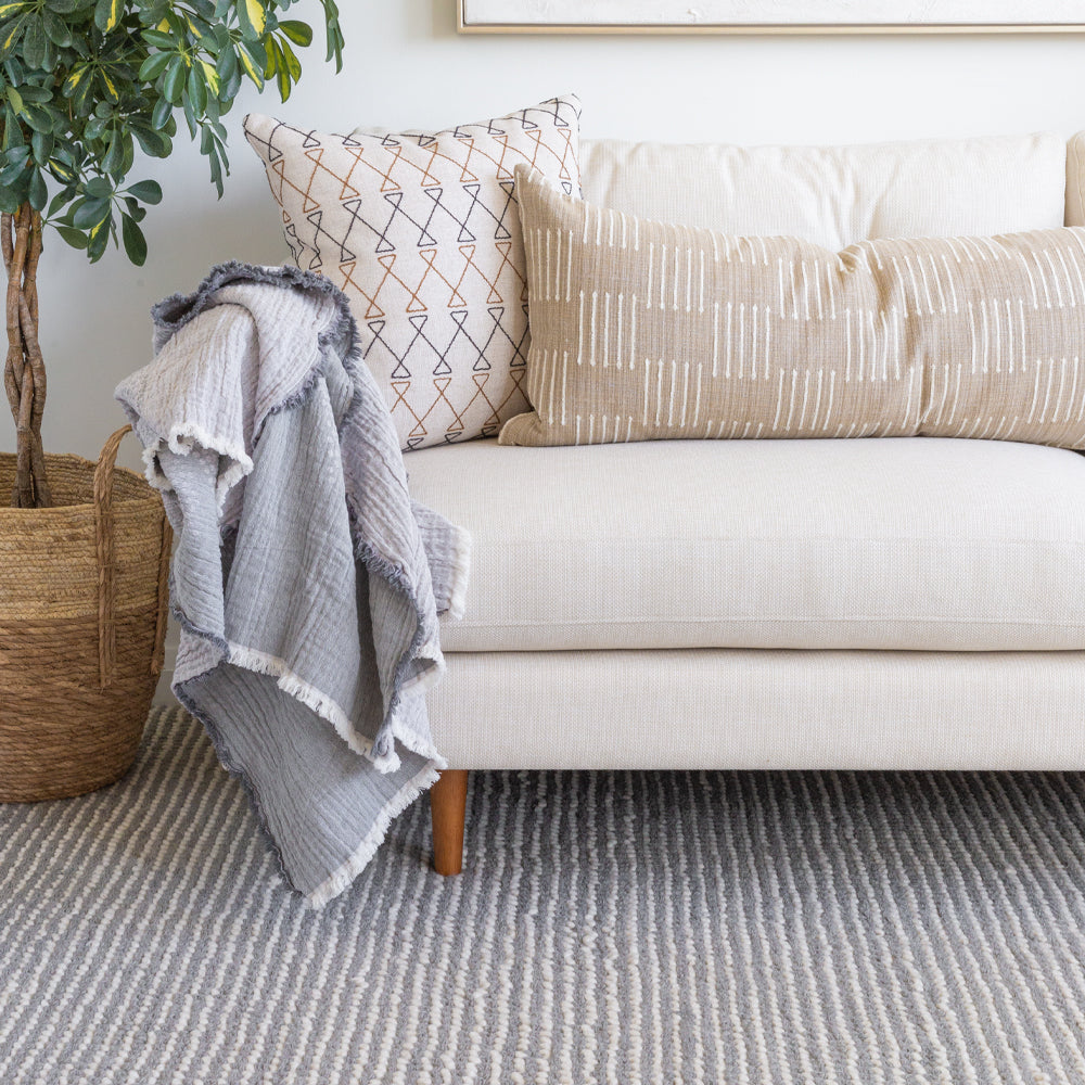 Falsled Rug, Grey & Cream