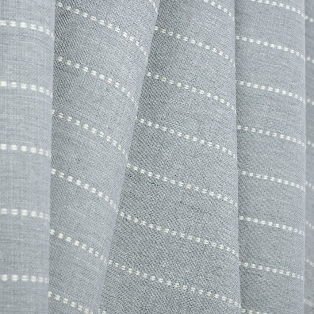 Fontana Cloud, a pale blue gray and white stripe indoor outdoor fabric : view 3