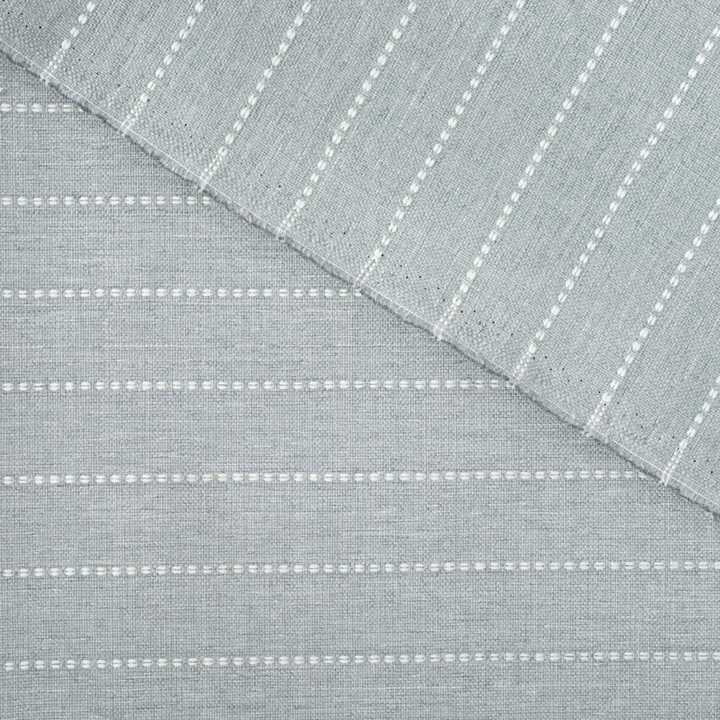 Fontana Cloud, a pale blue gray and white stripe indoor outdoor fabric : view 4