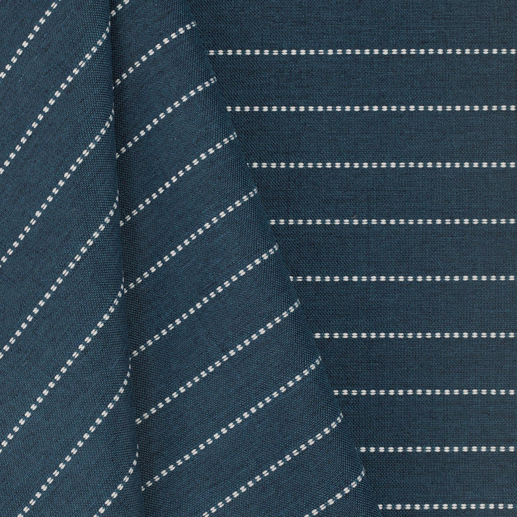 Fontana navy blue and white horizontal stripe indoor outdoor fabric : view 2
