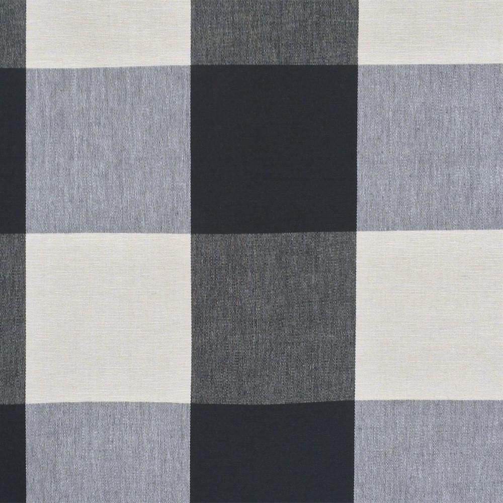 "REMNANT - Buffalo Check, Black + Cream 36"" - [Product_type] - Tonic Living"