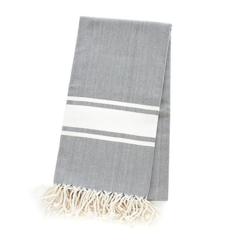 Turkish Towel - Freeport, Platinum