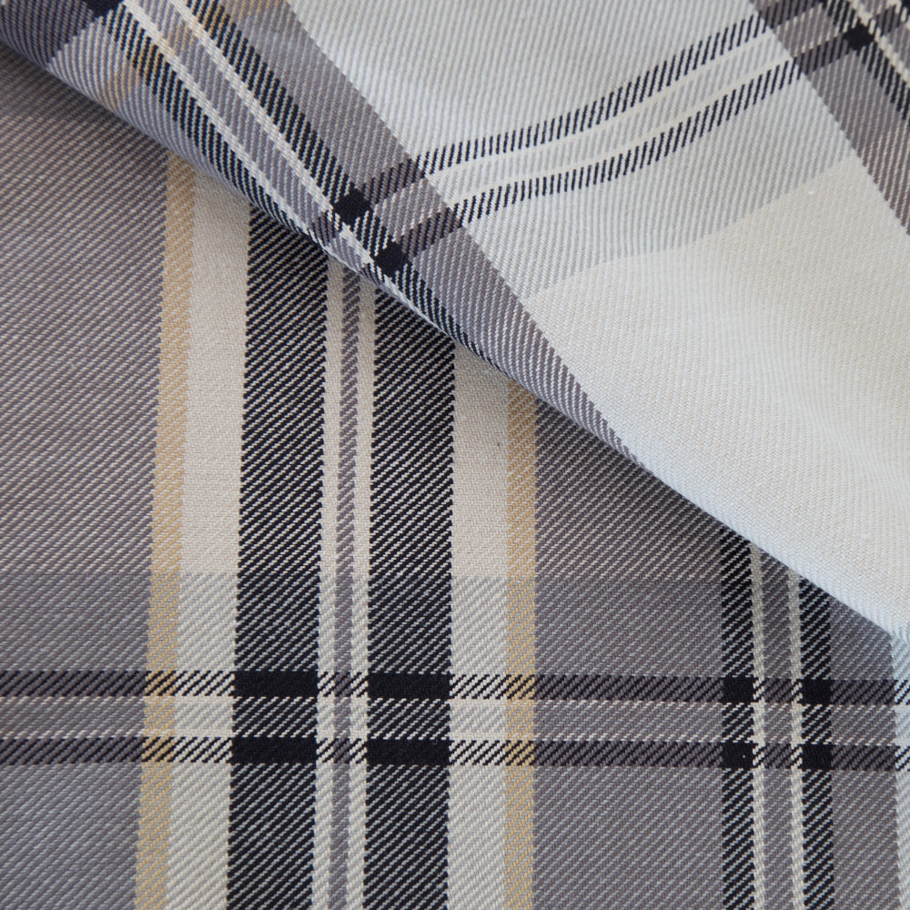 Goodman Plaid, Peppercorn - Tonic Living remnant 32""