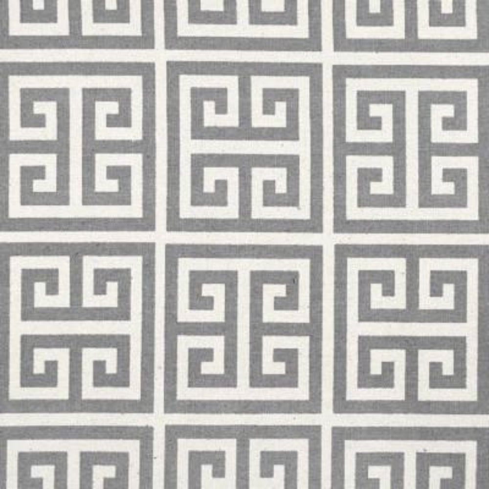 "REMNANT- Greek Key, Grey Natural 36"" - [Product_type] - Tonic Living"