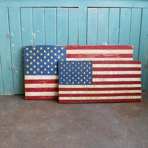 Hand Painted Wooden Flag - United States
