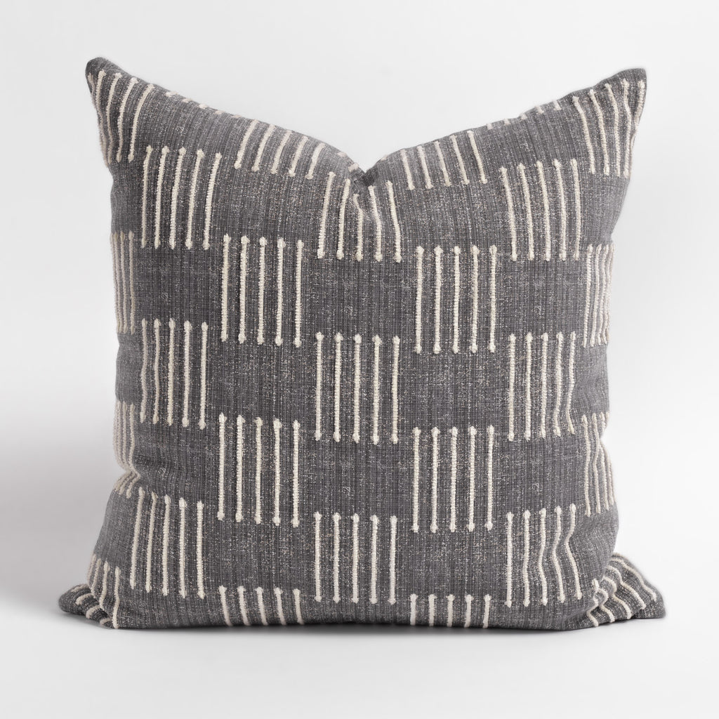 Harlow 22x22 Pillow, Graphite Grey