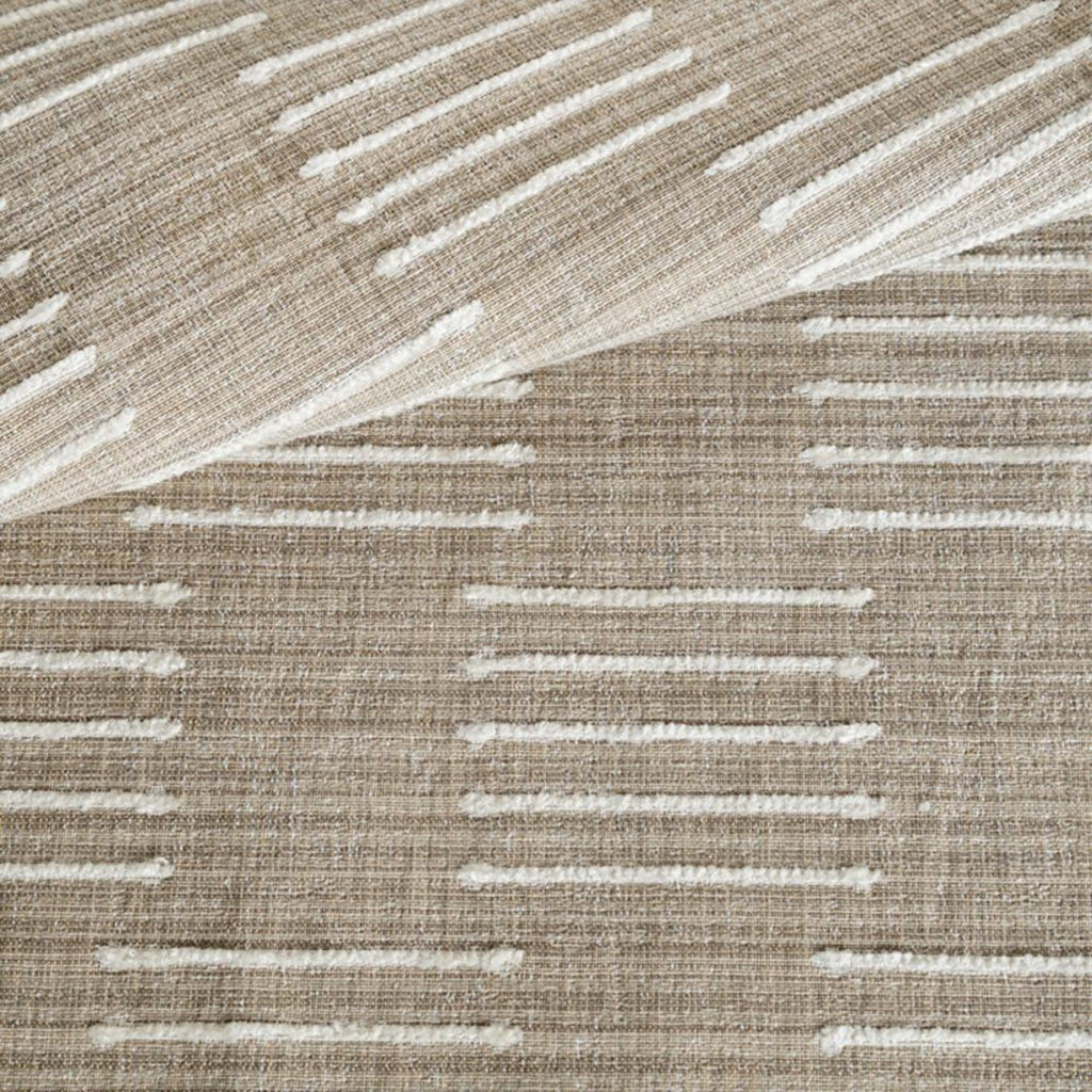 Harlow Burlap, a beige and cream graphic upholstery fabric from Tonic Living