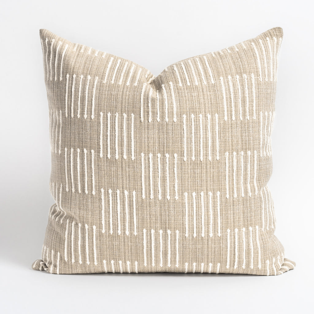 Harlow 22x22 Pillow, Burlap