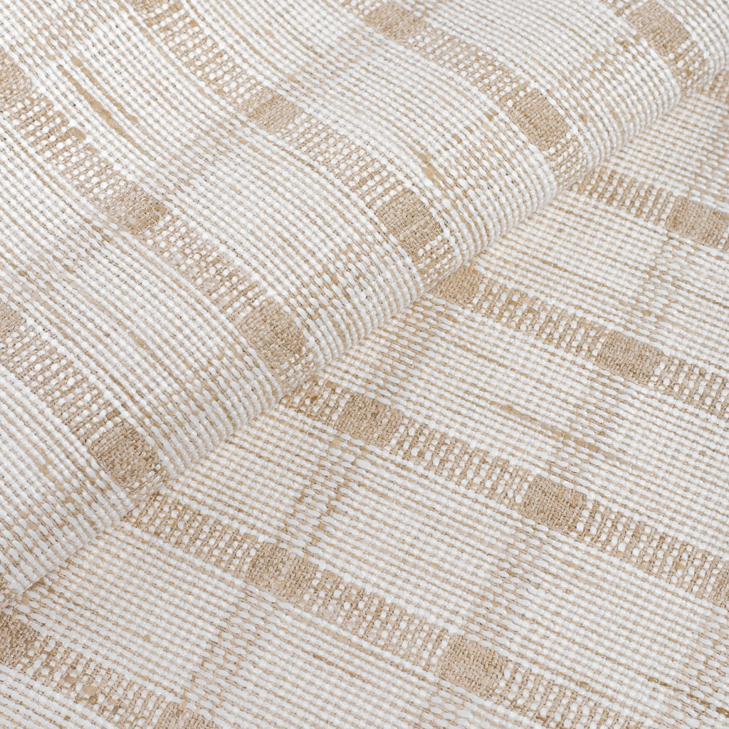 off white and flax beige plaid check fabric