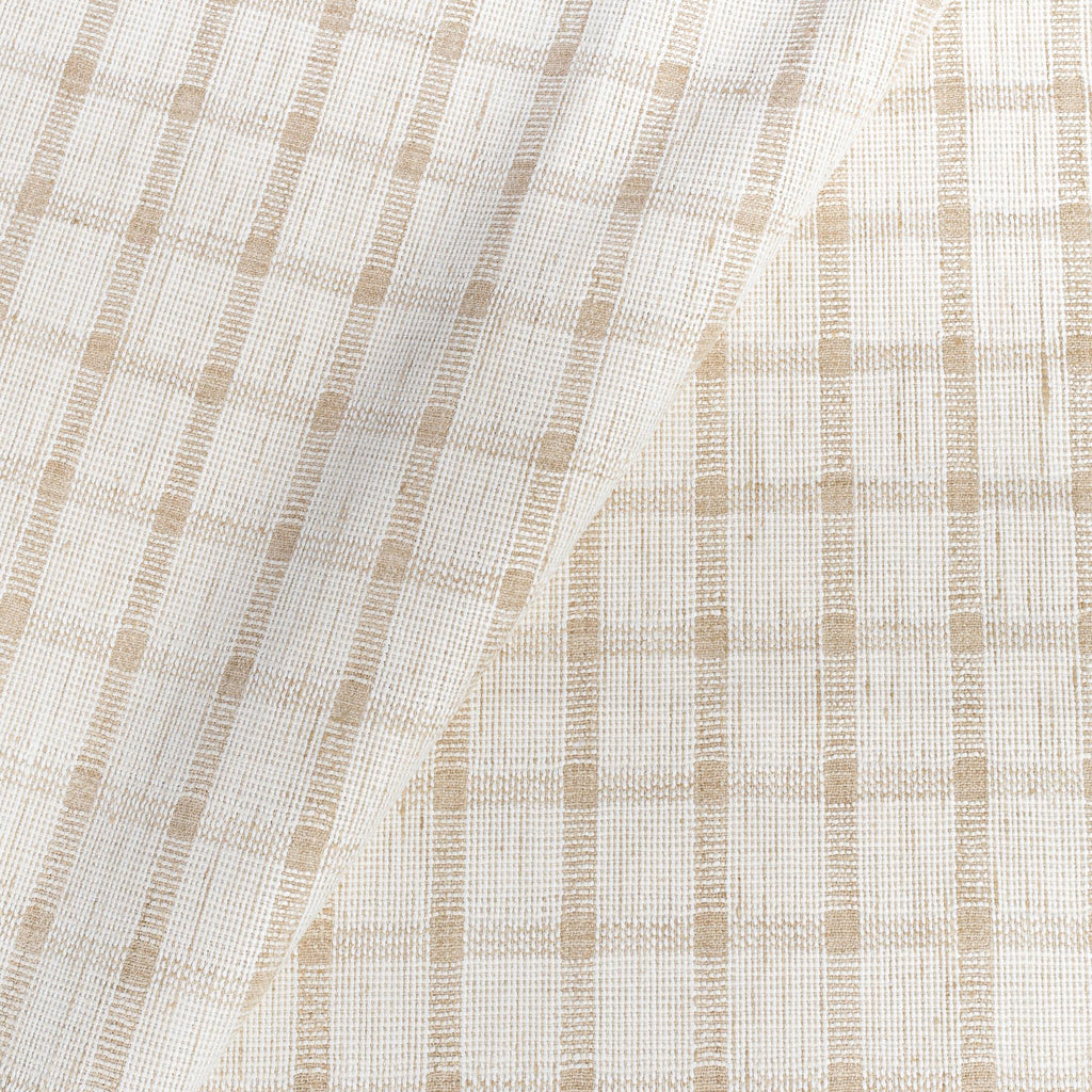ivory and beige plaid check home decor fabric