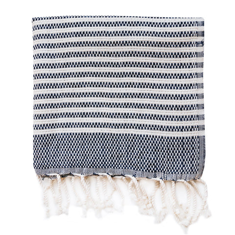 Turkish Towel - Hazleton, Navy (Hand)
