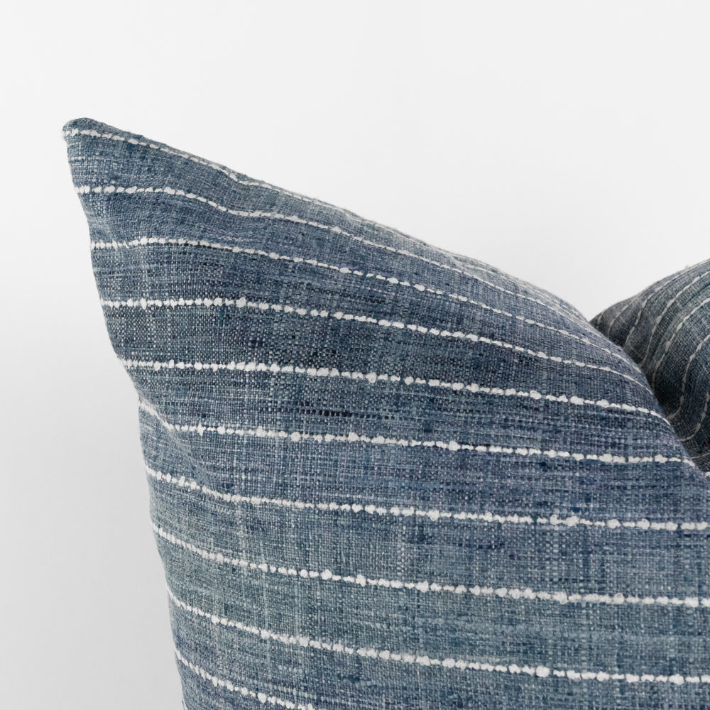 Hyden blue ombre stripe pillow from Tonic Living