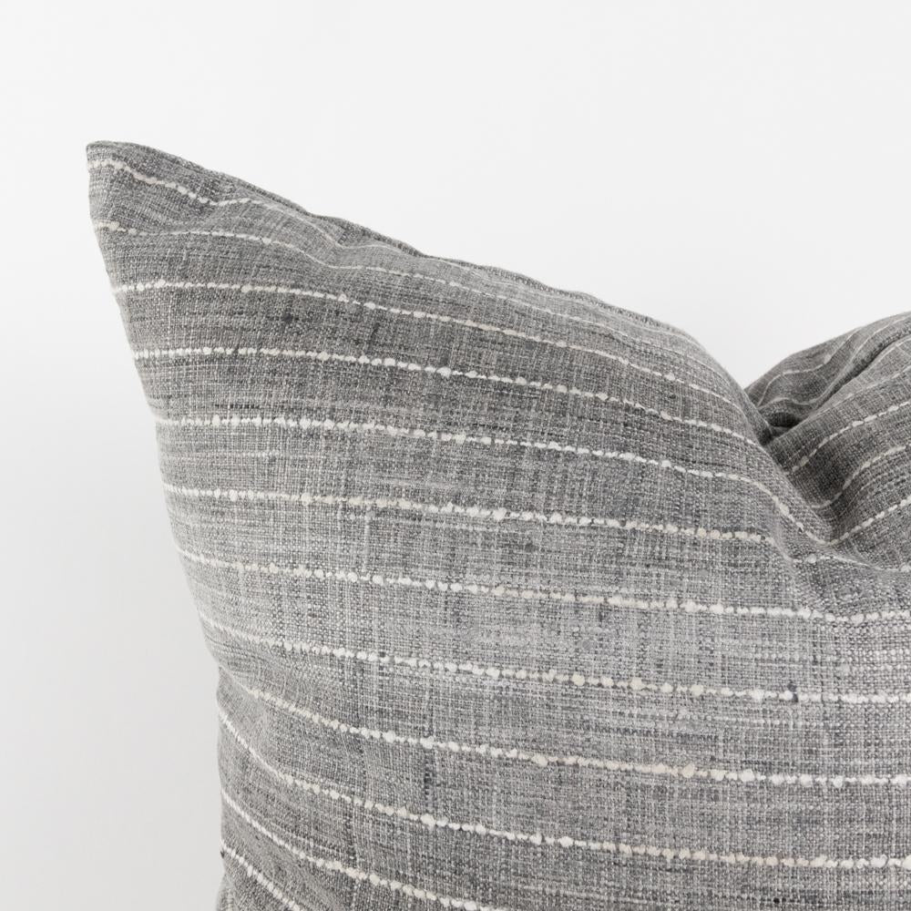 Hyden gray ombre stripe pillow from Tonic Living