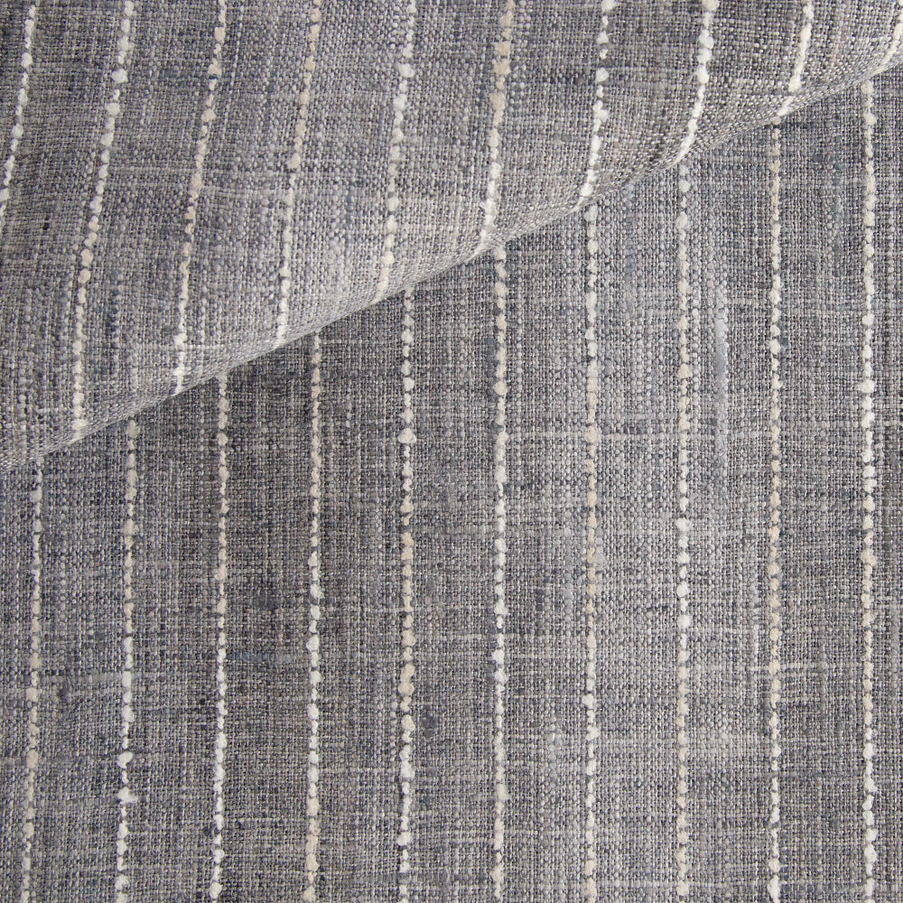 Hyden Stripe Fabric, Stone Grey
