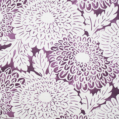 Imperial Bloom Plum Fabric - tonic-living-usd