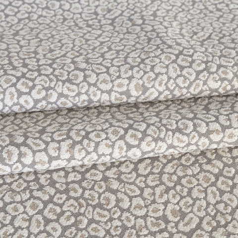 Jackie Fabric, Spots a taupe gray leopard fabric from Tonic Living