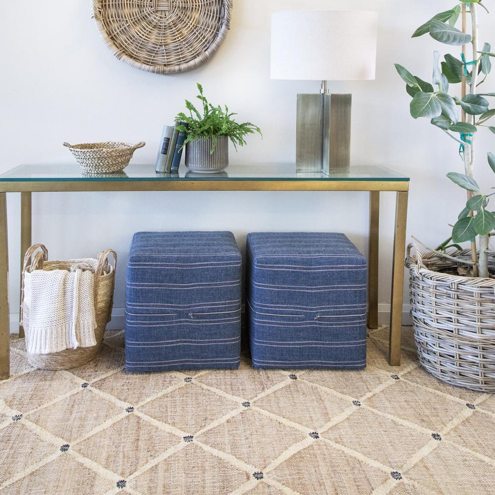 Kali diamond pattern jute rug by Dash and Albert at Tonic Living