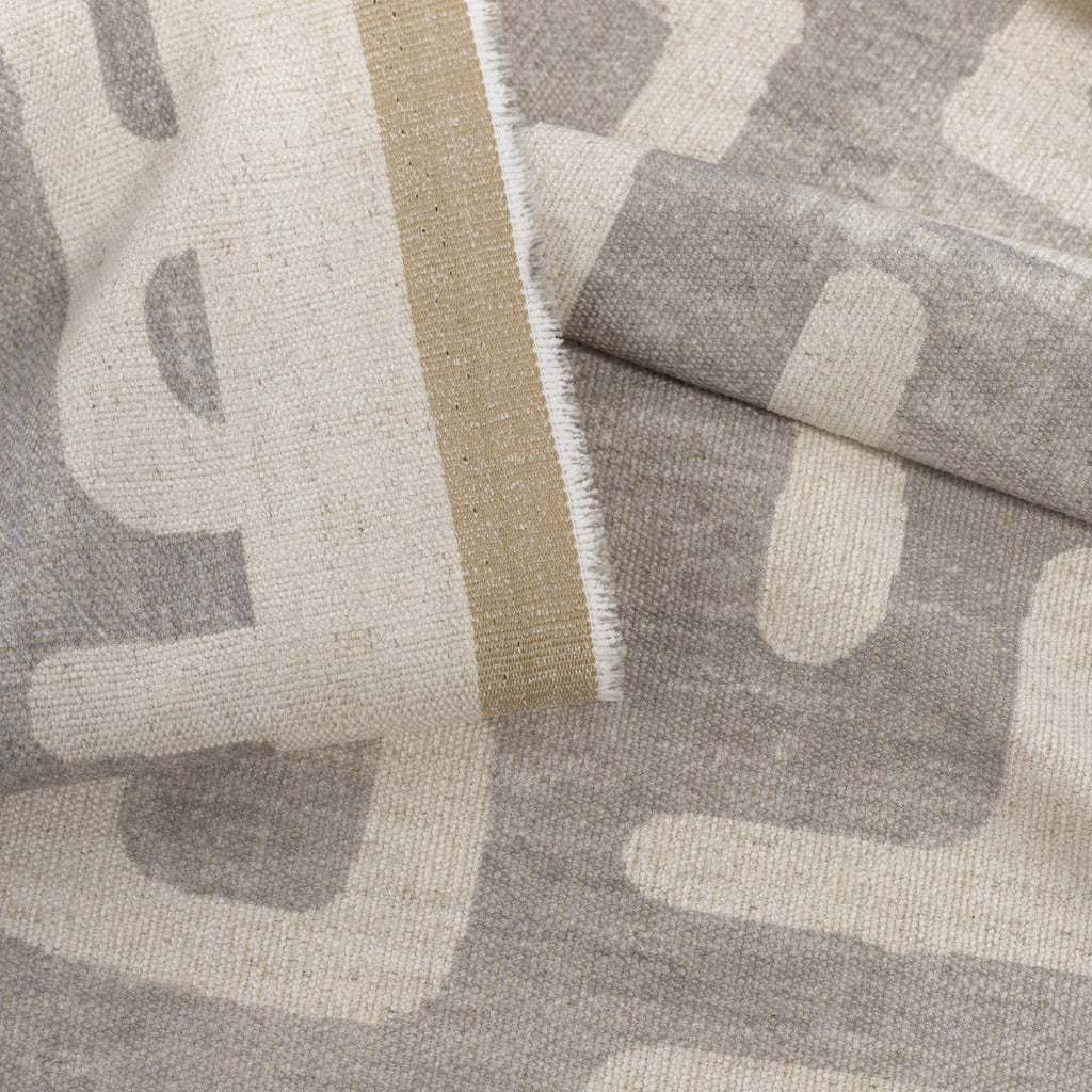 soft grey and beige print fabric
