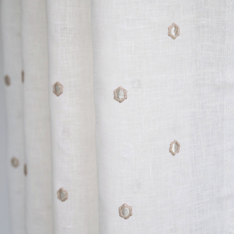 Lania Embroidery, Coconut - [Product_type] - Tonic Living