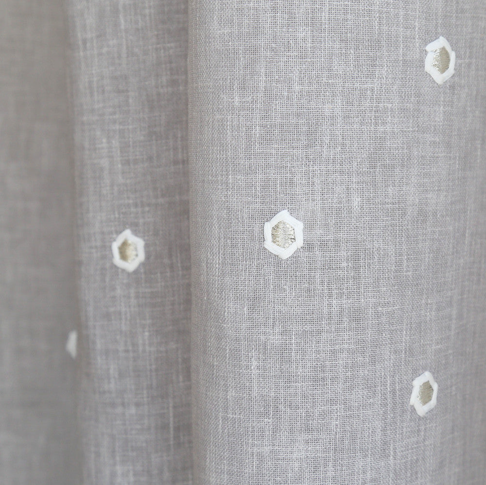Lania Embroidery, Fog - [Product_type] - Tonic Living