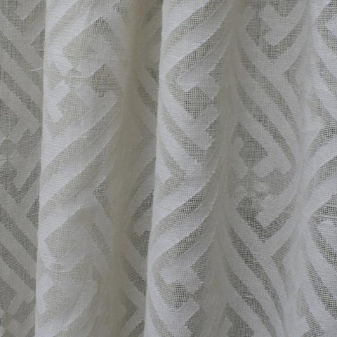 "REMNANT- Mandarin Cutwork Sheer, Natural 99"" - [Product_type] - Tonic Living"
